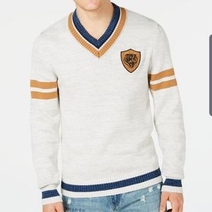 American Rag V-neck sweater (Grey)